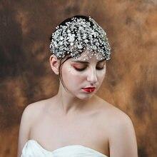 Свадебный аксессуар для волос trixy Стразы ручной работы из
