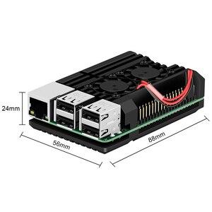 Image 2 - Raspberry Pi 4 B Case met Dual Fan, armor Aluminium Passieve Koeling Case Compatibel met Raspberry Pi 4 Model B Alleen