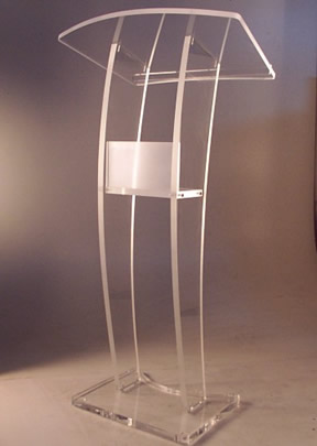 Transparente diseño moderno Simple barato atril de acrílico transparente de plexiglás