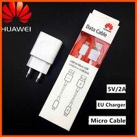 Huawei 5V/2A Original cargador de la UE adaptador de carga Micro USB Cable para Honor 7 P8 P9 Lite 6 6a 6x 6c 5c 7 Mate 8 7 P Smart z 2019