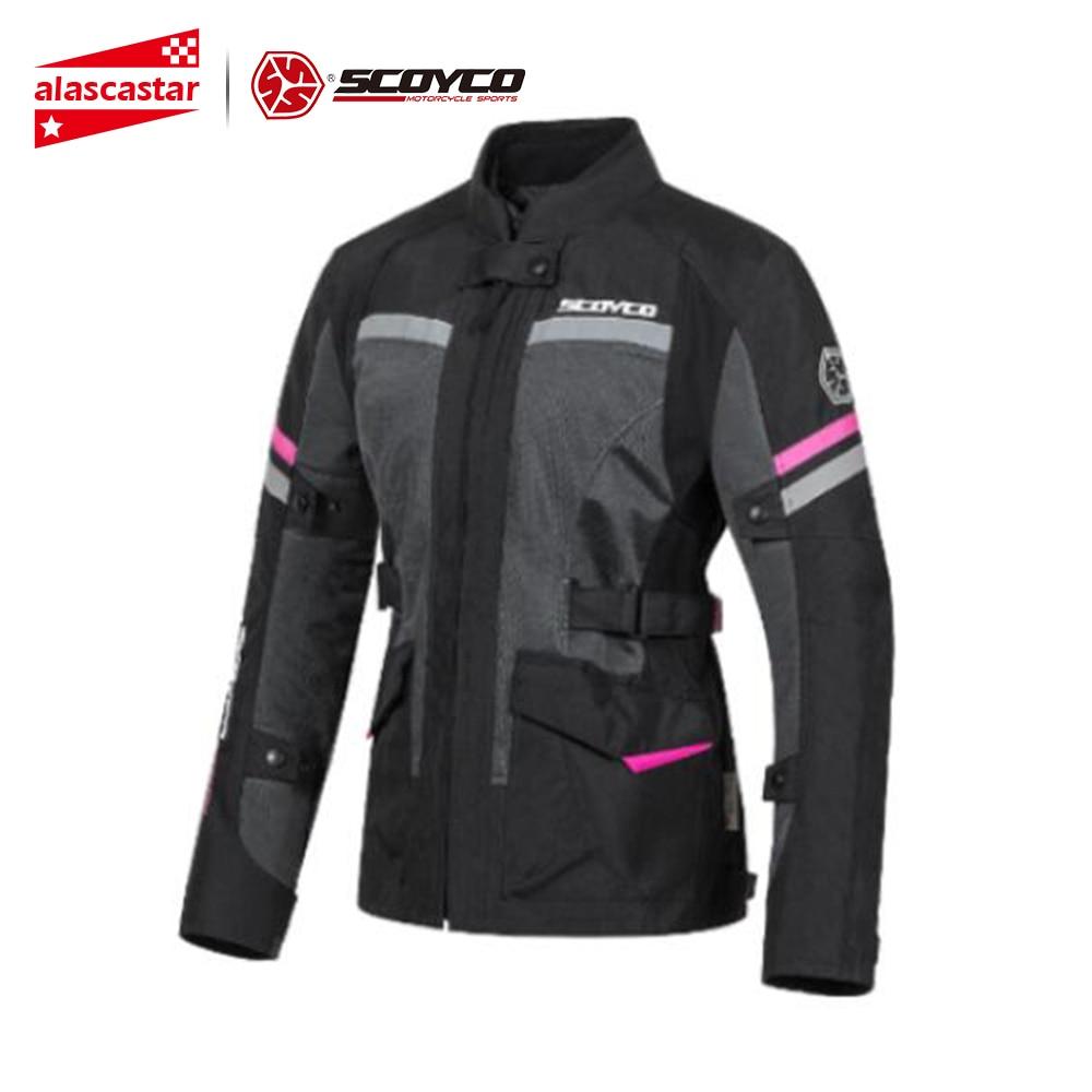 SCOYCO Women Motorcycle Jacket Summer Mesh Moto Motocross Jacket Riding Reflective Bikes Chaqueta Jaqueta Moto For Four Seasons|Jackets| |  - title=