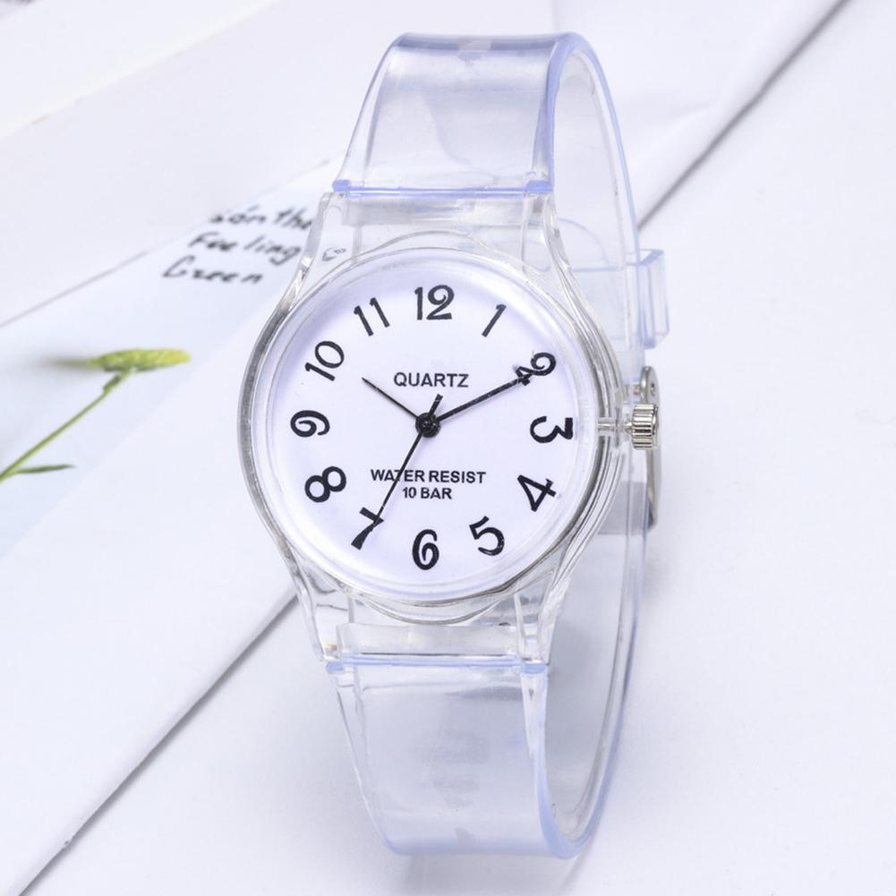 Children Jelly Rubber Transparent Watch Casual Wrist Watches Clock Kids Students Watch