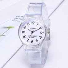 Children Jelly Rubber Transparent Watch Casual Wrist Watches
