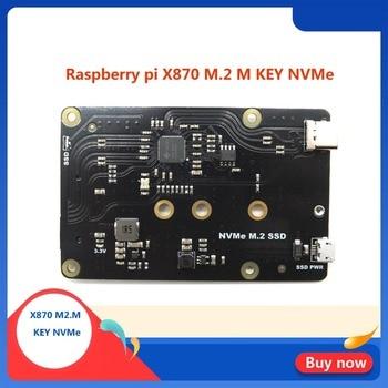 Raspberry Pi X870 NVMe M.2 2280/2260/2242/2230 SATA SSD Shield X870 Expansion Board for Raspberry Pi 3 B+(Plus)/3B/ROCK64 element14 pi face digital i o expansion board for raspberry pi green