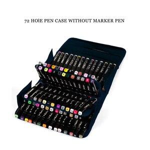 Многофункциональная черная Складная маркерная ручка большой емкости, Холщовый пенал, чехол сумка для хранения ручек, удерживающий 80 маркер...