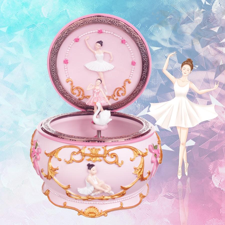Romance Ballerina Dancing Girl Music Box Swan Lake Luminous Musical Box Wedding Valentine's Day Christmas Gift
