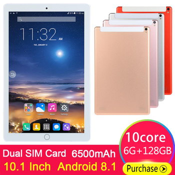 2020 New Design 10.1 inch android 89.0 Tablet Pc 6GB + 128GB Dual SIM Card 1280*800 HD Large Screen Dual Camera 10 Core Tablets