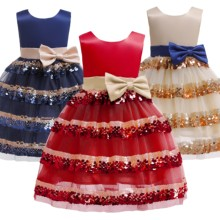 Christmas Girl's Dress New Year's Dress Red Dress Dress Children's Princess Dress dress gaudi dress