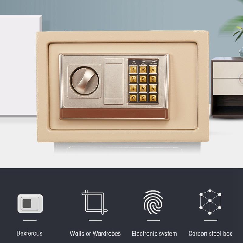 Mini Security Safety Box Digital Password Portable Box Drop Cash Safe Box Jewelry Money Anti-Theft Safe Box