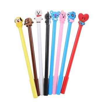 40 Pce cartoon dog stationery pen gel ink gift student office supplies pen kawaii test cute kawaii pen stationery animal pen creative owl style gel pen animal student 0 5mm gel ink pen black pen school stationery office supplies neutral pen
