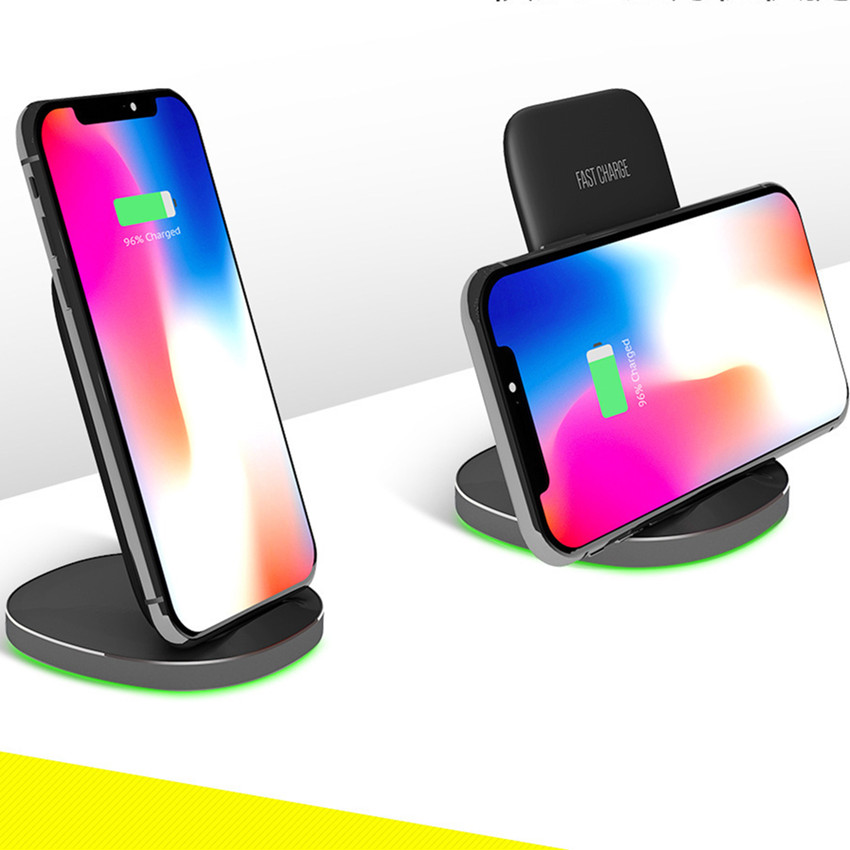 15W Fast Qi Wireless Charger  Stand For H uawei Mate 20Pro Xi aomi Mi9 Chargeur Induction Voiture Wireless Charging Stand Cradle|Wireless Chargers| |  - title=