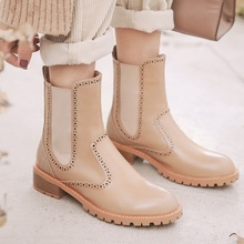 genuine leather ankle boots for women high heel boots sexy round toe autumn winter fashion shoes woman botas mujer botte femme jady rose genuine leather sexy women ankle boots for autumn pointed toe 9cm high heel botas mujer female fashion chelsea boot