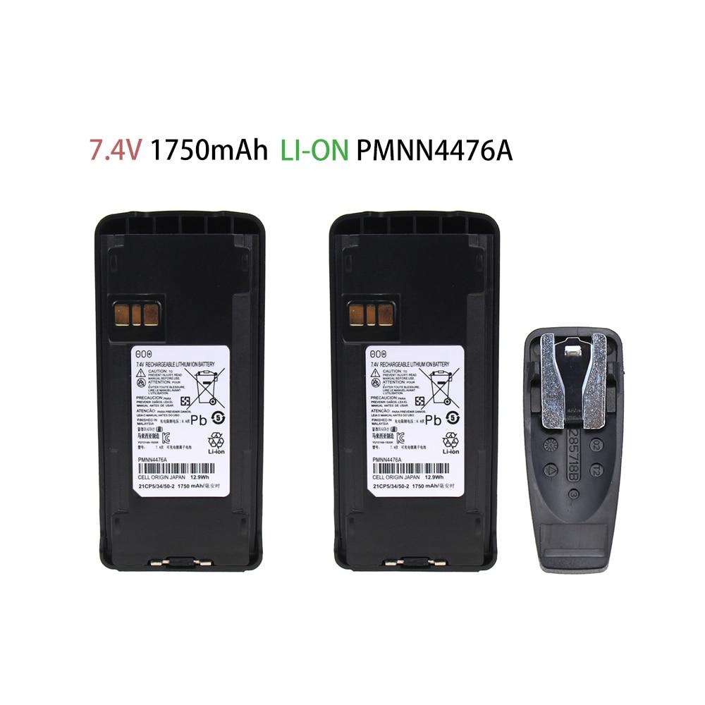 2 Pcs Battery For Motorola Walkie Talkie CP185/CP476/CP477/CP1300/CP1600/EP350/P140/P160/P180 (Li-on 2600mAh)
