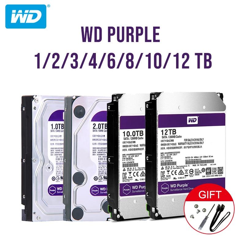"""Western Digital WD Viola Sorveglianza HDD 1TB 2TB 3TB 4TB SATA 6.0 Gb/s 3.5 """"Hard unità per la Macchina Fotografica del cctv AHD DVR IP NVR-in Hard disk esterni da Computer e ufficio su  Gruppo 1"""
