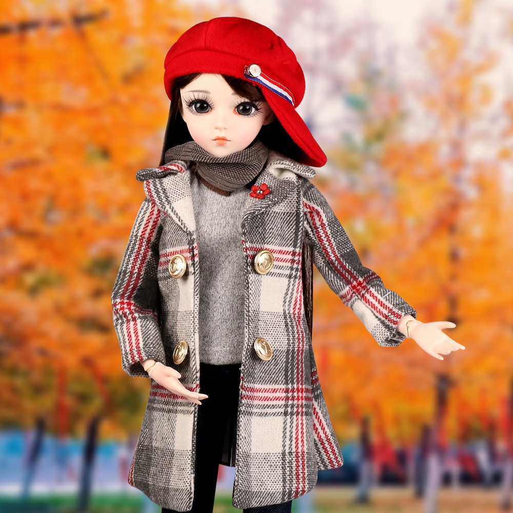 60CM 1/3 BJD Doll 18 Ball Jointed Dolls With Full Outfits Wig Clothes Shoes Makeup Best Gifts Toys For Girls Collection
