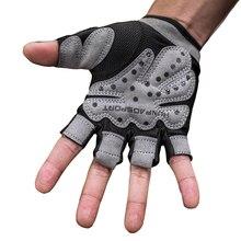 Queshark Women Men Non-Slip Durable Half Finger Sport Gym Gloves Shockproof Fitness Gloves Weightlifting Dumbbell Gloves
