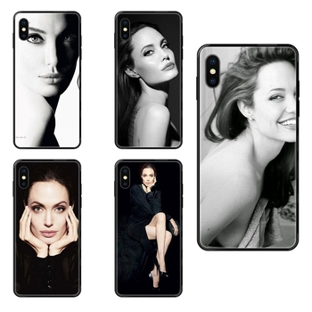 Enfants For Huawei Honor 6A 7A 7X 8C 8X 9 9A 9I 9X 10 10I 20 20I 20S Lite Pro Black Soft TPU New Style Unique Angelina Jolie image