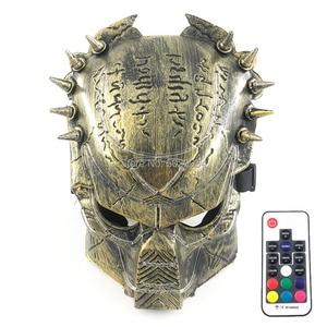 Image 1 - Nieuwigheid Cosplay Kostuum Props Volledige Gezicht Led Masker Scary Halloween Masque Stadium Dansvoorstelling Accessoires Met Afstandsbediening
