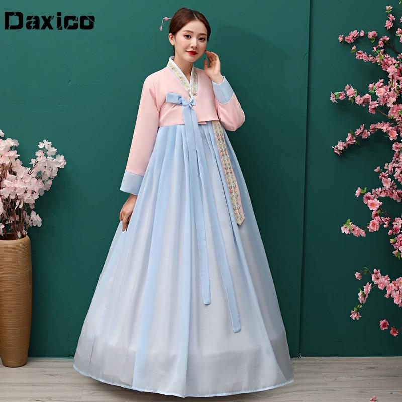 Traditional Korean Hanbok Dress Ancient Princess Dance Costume Women Ethnic Korean Folk Stage Dance Costume Wedding Party Cloth