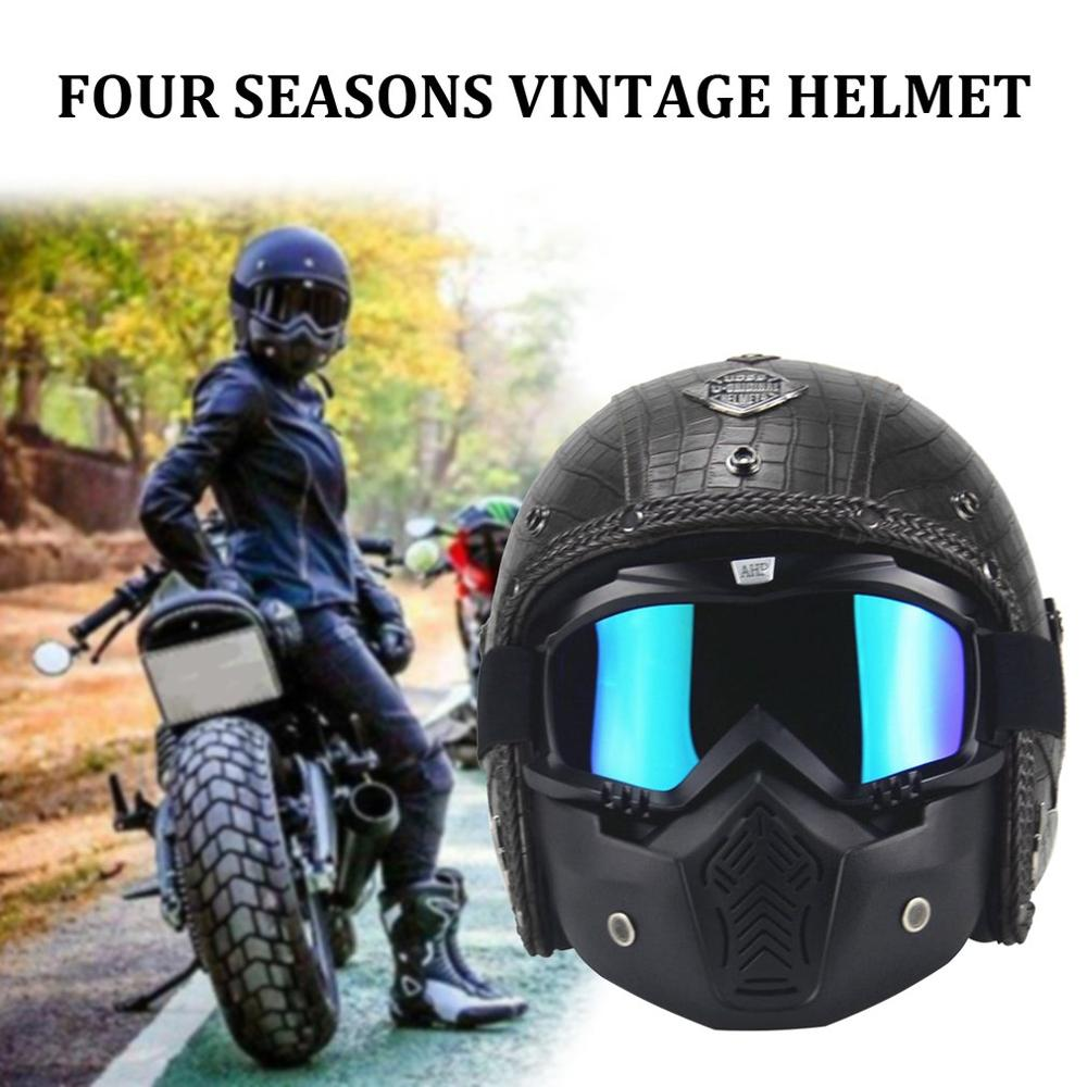 Men And Women Seasons Retro Helmet Fashion Personality Retro Helmet Motorcycle Motor Car Universal Half Helmet