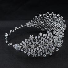 Handmade 2020 New Cubic Zirconia Bridal Wedding Soft Headband Hairband Tiara Hair Jewelry Accessories Hairpieces CHA10048