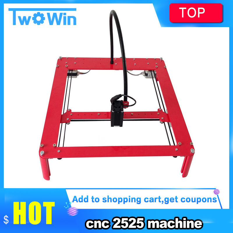 500mW 5500mW 15W Mini DIY Laser Engraving Machine 25cm*25cm working area CNC Router full assembled metal laser carving machine|Wood Routers| |  - title=