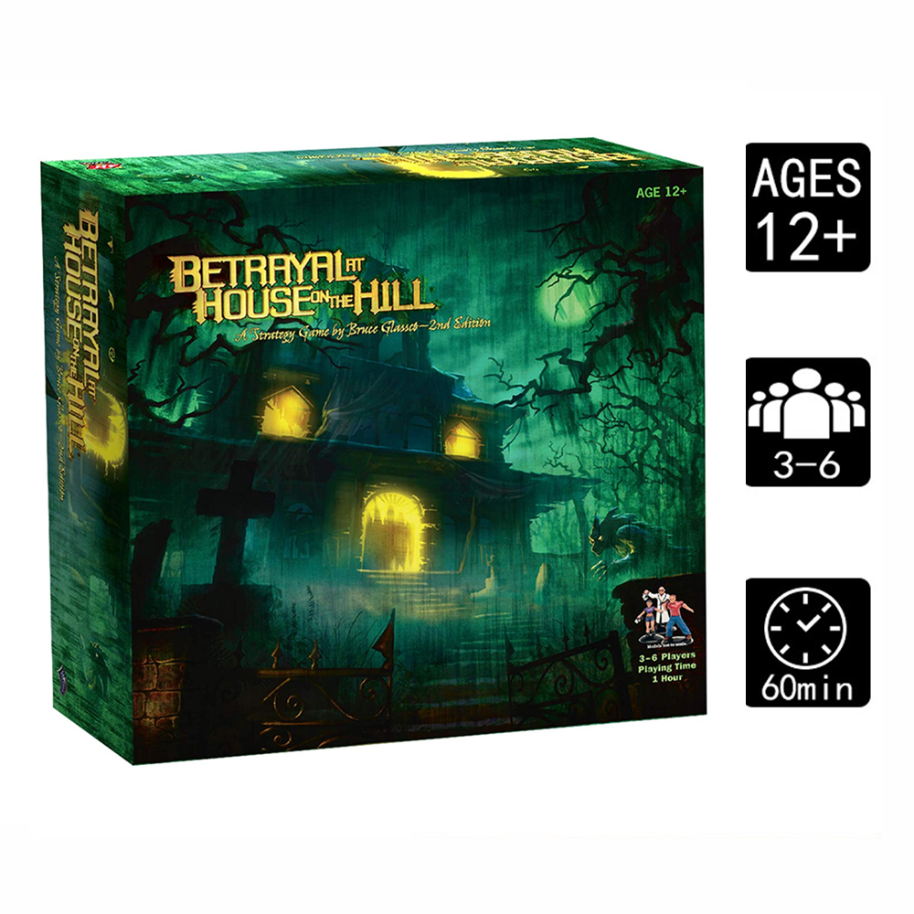 Betrayal At House On The Hill Board Game Basic & Expansion Widow's Walk Board Game 3–6 Players Adult Card Game Educational Toys