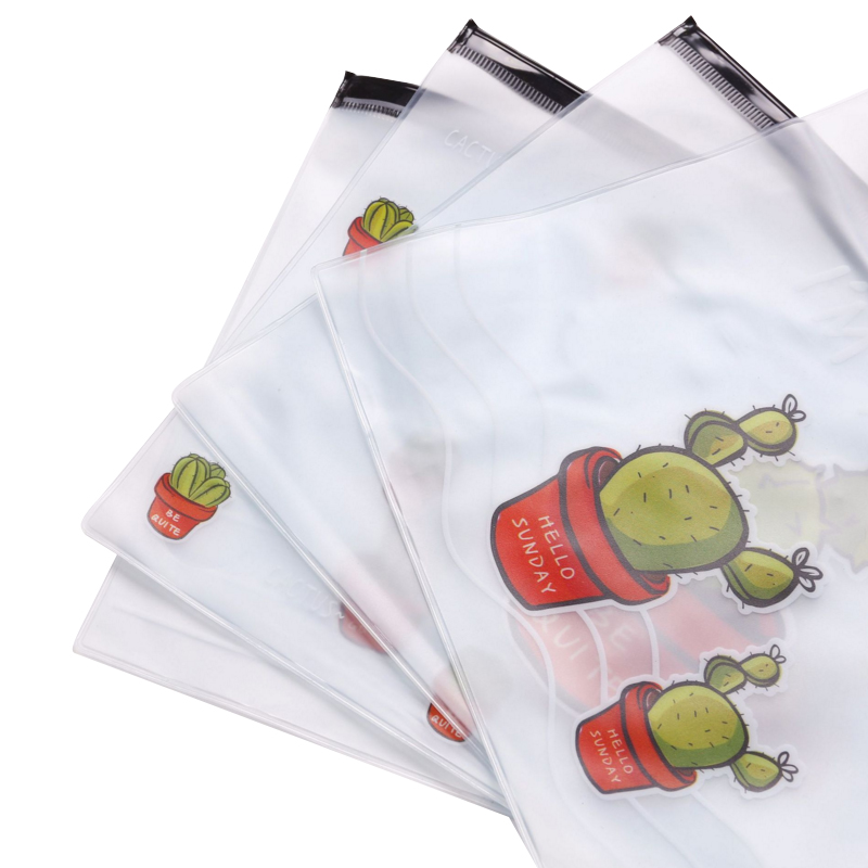 20pcs/lot Kawaii Cactus Translucent File Bag Cartoon Document Bag  DIY Stationery A5 Folder Bag Wholesale