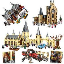 2021 novo castelo mágico no céu great hall quidditch jogo expresso buckbeak resgate hedwig blocos de construção brinquedos para crianças presente