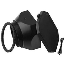 58 mm Screw Mount DV Lens Hood with Cover Cap for Sony Digit