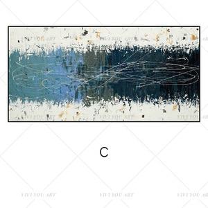 Image 4 - גדול 100% בעבודת יד מופשט בד קיר אמנות מודרני שמן ציור על Cnavas עכשווי דקור יצירות אמנות בית מלון משרד דקור