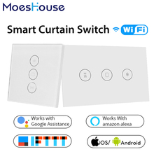 WiFi Smart Curtain Switch Smart Life Tuya APP Electric Motorized Curtain Blind Roller Shutter Works with Alexa and Google Home