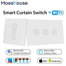 WiFi Smart Switch Tenda di Vita Intelligente Tuya APP Elettrico Motorizzato per Tende A Rullo Ciechi di Scatto Funziona con Alexa e Google Casa