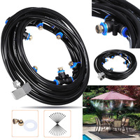 Misting Cooling System Brass Nozzles Trampoline Sprayer Summer Waterpark Garden Irrigation Humidify Watering Outdoor With Line