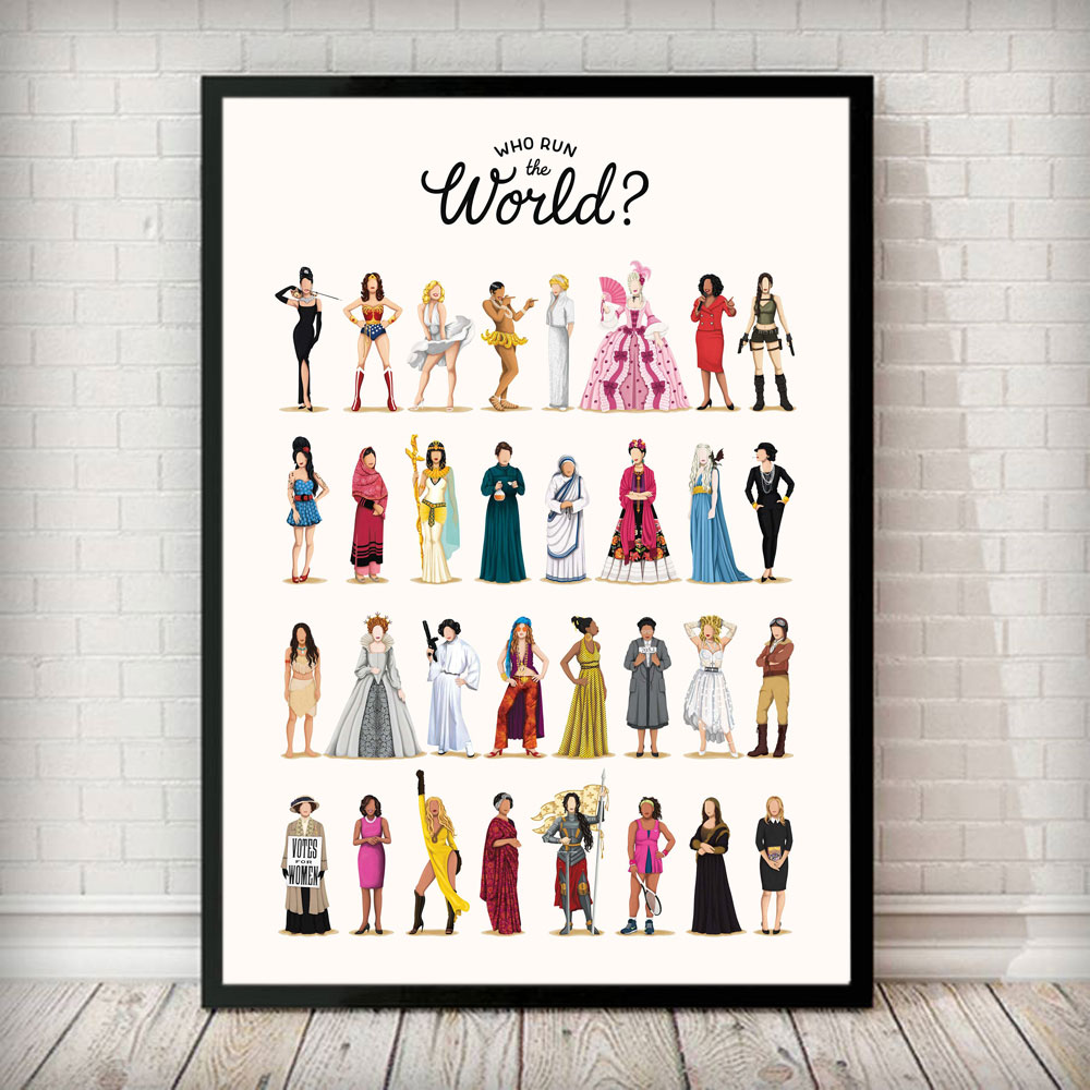 Who Run The World Poster Future Is Female Canvas Painting Girlboss Gift Wall Feminism Art Print Picture For Bedroom Home Decor