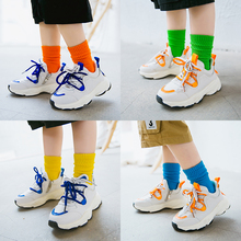 2019 New Fashion Boys Girls Knee High Socks Kids Candy colors For Baby Toddle Long 1-12y