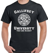 Camiseta inspirada por la Universidad de gallirex para hombre divertida Dr Who(China)