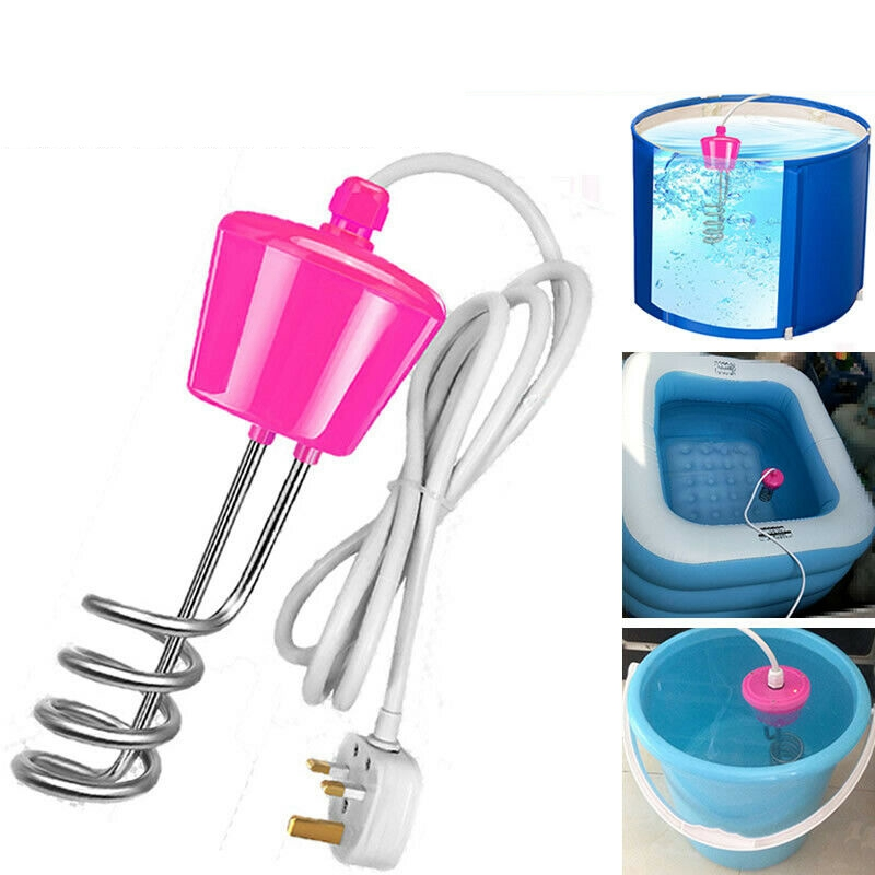 3000W Suspension Immersion Water Heater Element Floating Electric Heater Boiler 3m Water Heating Portable Bathroom Swimming Pool