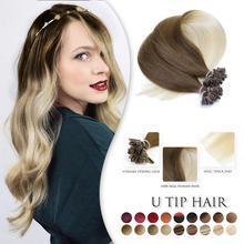 Hair-Machine Capsule Human-Hair-Extension Fusion Nail U-Tip Keratin Straight Neitsi Ombre