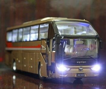 Juguete en miniatura de aleación para coche, juguete en miniatura de aleación con luces, auténtico y autorizado, 136, para Foton AUV 6122