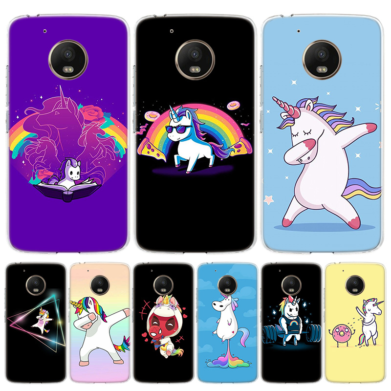 Cartoon Funny Horse Cover Phone Case For Motorola Moto G8 G7 G6 G5S G5 E6 E5 E4 Plus G4 Play EU One Action X4 Pattern Coque