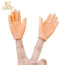 Figuras divertidas de Mini dedos para niños y perros, Juguetes Divertidos de silicona para regalo