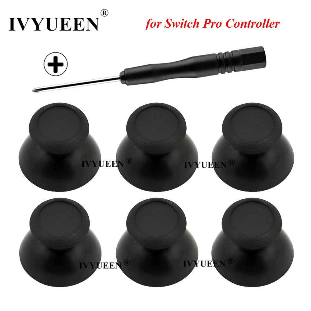 IVYUEEN 6 Pcs 3D Analog Joysticks For Nintend Switch NS Pro Controller Thumb Stick Grips For Nintendos Switch PRO Repair Parts