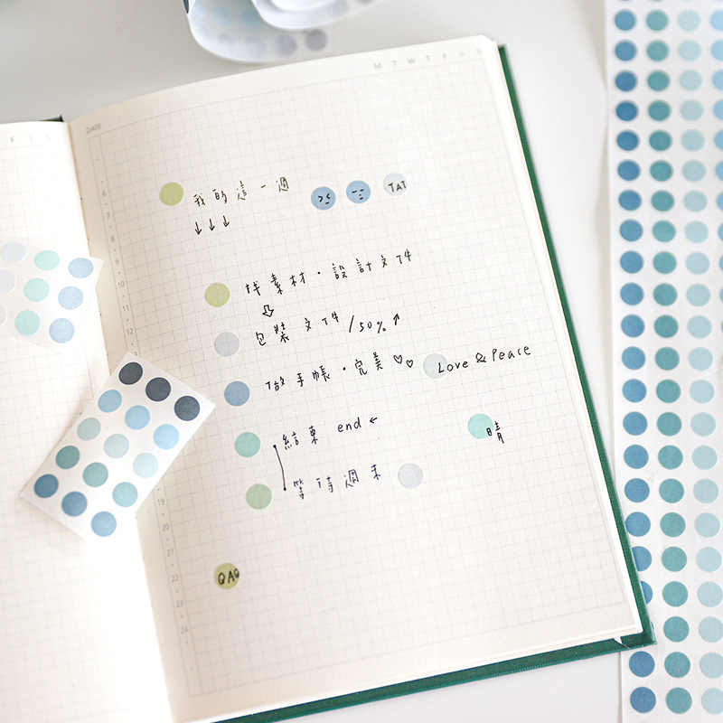 Multi-coloured Dots Washi Masking Tape For Scrapbooking Journal DIY Stationery Bujo Planner Craft