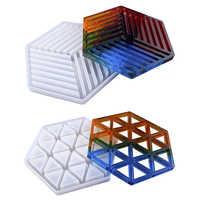 Heißer Verkauf Bahn Beton Silikon Form Diamant Streifen förmigen Design DIY Epoxy Harz Gips Handwerk Zement Tablett Form