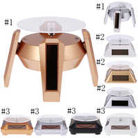 360° Rotating Display Stand Base Rotary Turntable - Solar/Battery Powered, 4 Colors for Choose