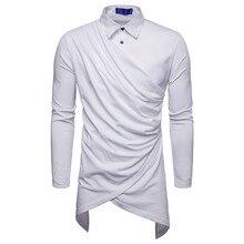 Shirt Men's European Shirt Dark Wind Men's Shirt Individual Knit Shirt Stitching Vertical Long Sleeve Shirt Men's Shirt Full