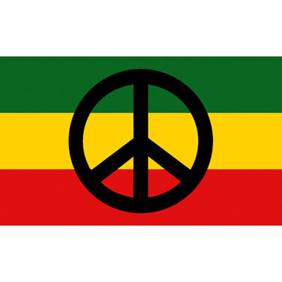 Peace And Love Reggae Wall Flag Wall Decorations