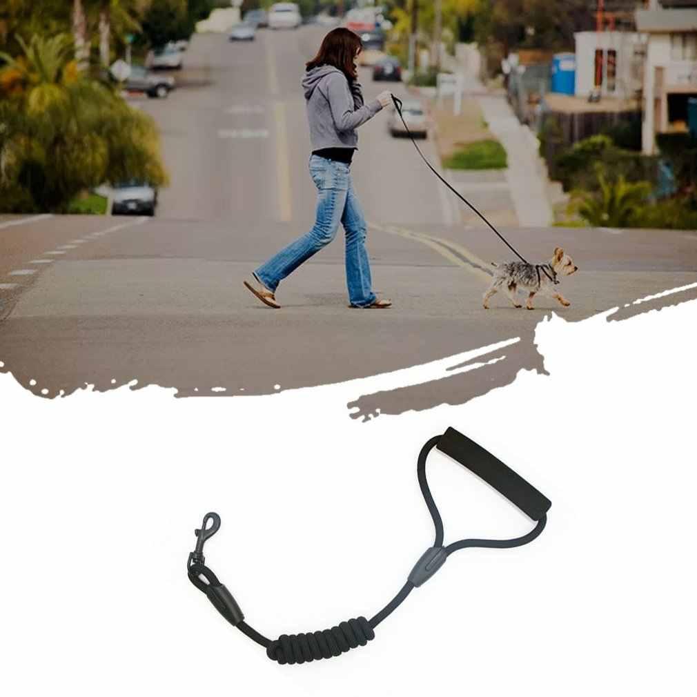 Portable Anjing Kalung Nilon Bulat Tali Kalung Menengah Besar dan Anjing Kecil Praktis Berjalan Anjing Tali