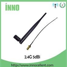2,4 ГГц Wifi антенна 5dbi SMA мужской разъем всенаправленный 2,4G антенный маршрутизатор wi fi антенна+ 21 см RP-SMA кабель